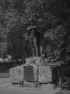 Photograph - Spirit Of The Confederacy Black And White by Joshua House