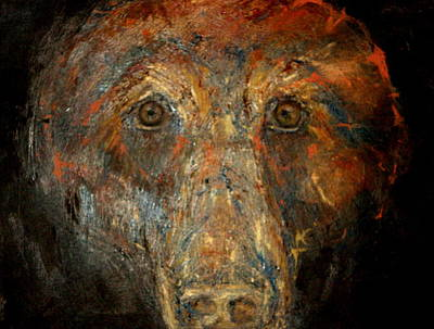 Mixed Media - Spirit Of The Grizzly by Johanna Elik