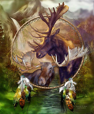 Spirit Mixed Media - Spirit Of The Moose by Carol Cavalaris