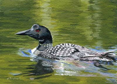 Loon Painting - Spirit Of The North by Lynne Reichhart