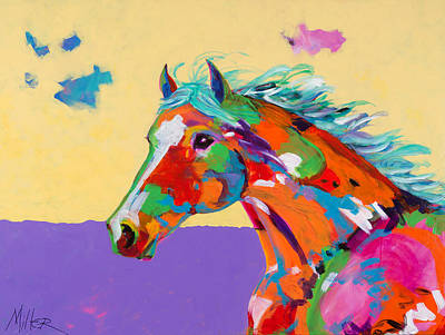 Colorful Horse Painting - Spirit Of The Plains by Tracy Miller