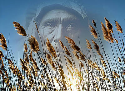 Native American Spirit Portrait Photograph - Spirit Of The Sun And Earth by Brian Wallace