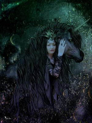 Digital Art - Spirit Of The Unicorn by Ali Oppy