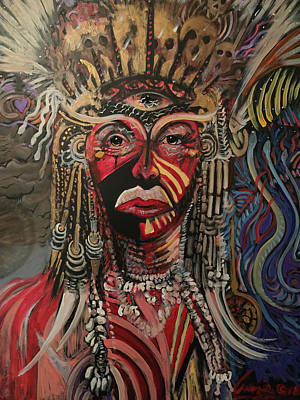Painting - Spirit Portrait by Amzie Adams
