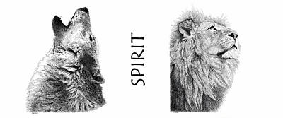 Drawing - Spirit by Scott Woyak