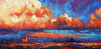 Prairie Sky Art Painting - Spirit Sky by Marion Rose