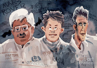 Rover Painting - Spirit Team 2004 by Donald Maier