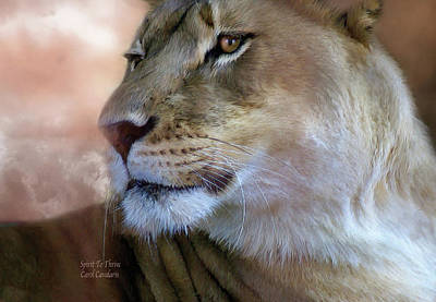 Lion Mixed Media - Spirit To Thrive by Carol Cavalaris