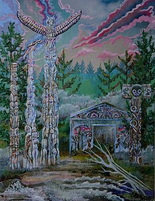 Mixed Media - Spirit Village by Bob Craig