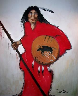 Spirit Warrior Art Print by Patrick Trotter