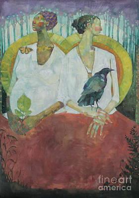 Native American Spirit Portrait Painting - Spirit Weavers by Olivia Pendergast