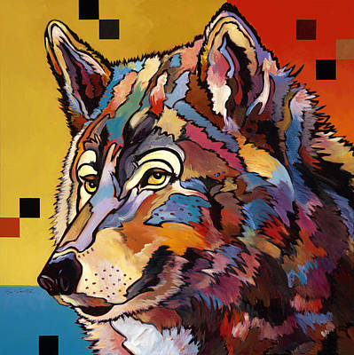 Different Points Of View Painting - Spirit Wolf by Bob Coonts