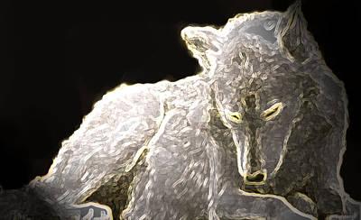 Wild Wolf Mixed Media - Spirit Wolf by Debra     Vatalaro
