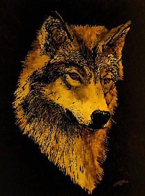 Painting - Spirit Wolf by John Guthrie