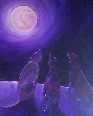 Pet Painting - Spirits In The Night by Roger Wedegis