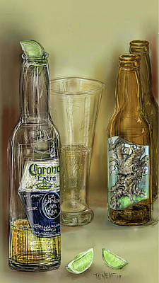 Beer Drawings - Spirits... by Mark Tonelli