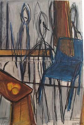 University Of Michigan Drawing - Spirits Of Kandinsky by Jacob Stempky