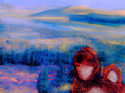 Art Print featuring the painting Spirits Of The Sacred Land by FeatherStone Studio Julie A Miller