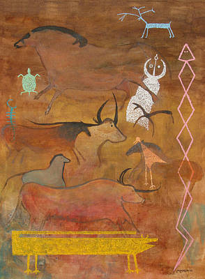 Biblical Interpretation Painting - Spirits- Souls Of All Living by Mordecai Colodner