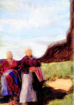 Art Print featuring the painting Spirits They Are Here by FeatherStone Studio Julie A Miller