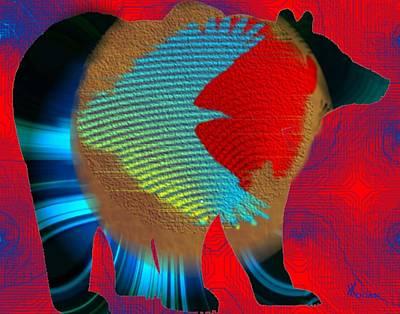 Bear Digital Art - Spirits by Will Logan