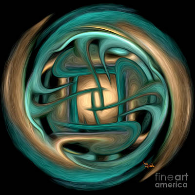 Spiritual Art - Healing Labyrinth By Rgiada Art Print