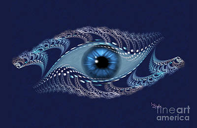 Digital Art - Spiritual Art - The Third Eye By Rgiada by Giada Rossi