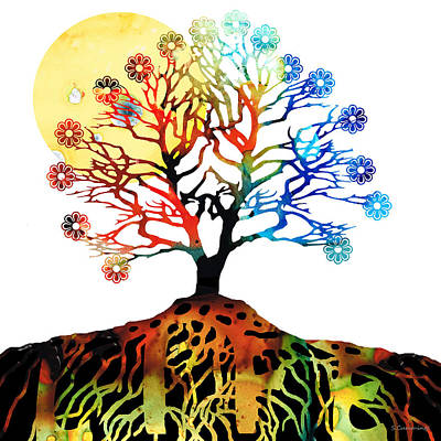 Spiritual Art - Tree Of Life Art Print by Sharon Cummings