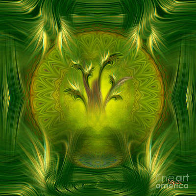 Positive Attitude Digital Art - Spiritual Art - Tree Of Wisdom By Rgiada by Giada Rossi