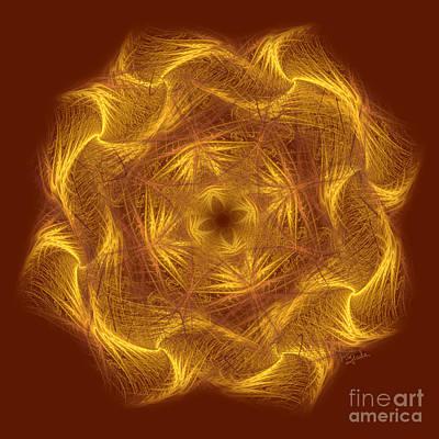 Spiritual Art - Wheel Of Dharma By Rgiada Art Print