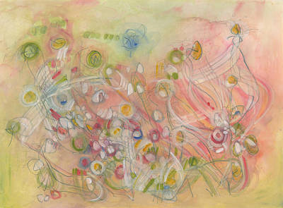 Painting - Spiritual Creatures Delight Her by Christine Alfery