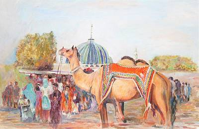 Painting - Spiritual Fair by Khalid Saeed