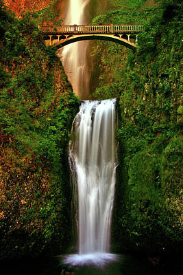 Captured Rain Photograph - Spiritual Falls by Scott Mahon