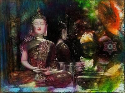 Asian Art Photograph - Spiritual Feelings - Painted Toned Version by Daniel  Arrhakis