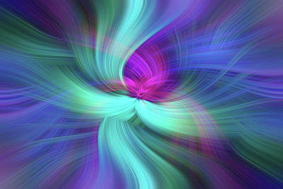 Spiritual Freedom. Mystery Of Colors Print by Jenny Rainbow