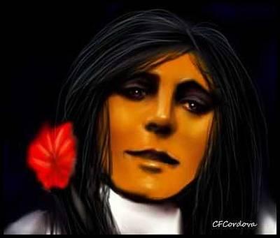 Spiritual Portrait Of Woman Digital Art -  Spiritual Guest by Carmen Cordova