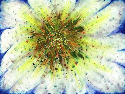 Mix Medium Painting - Spiritual Guidence - The Birth Of My Art #124 by Rainbow Artist Orlando L aka Kevin Orlando Lau