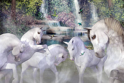 Gray Horse Digital Art - Spiritual Harmony by Betsy Knapp