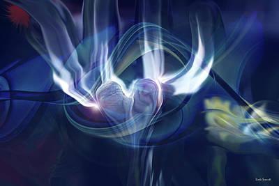 Digital Art - Spiritual Heart by Linda Sannuti