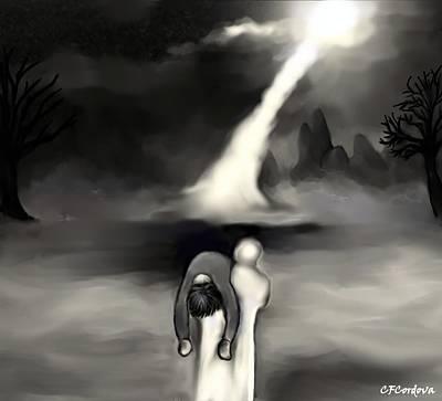 Spiritual Rescue Art Print by Carmen Cordova