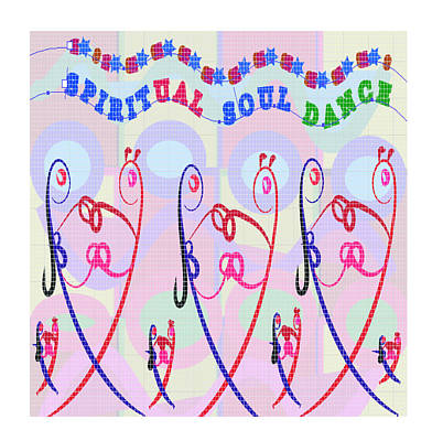 Painting - Spiritual Soul Dance Illustration See On Posters N Home Decor Gifts by Navin Joshi