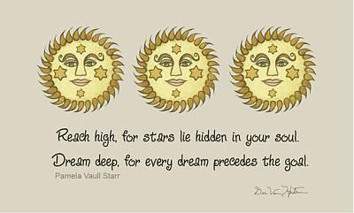Painting - Spiritual Sun by Dee Van Houten