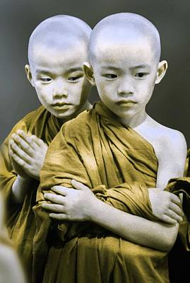 Confidence Painting - Spiritual Twin Boys by Celestial Images