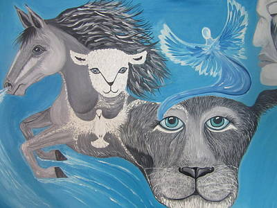 Prophetic Painting - Spiritual Warhorse by Rachael Pragnell