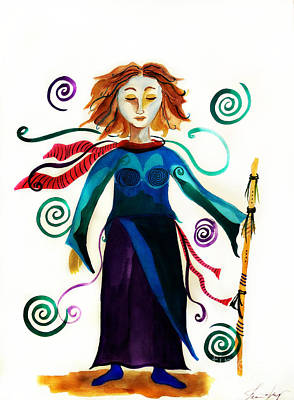 Painting - Spiritual Warrior by Jean Fry