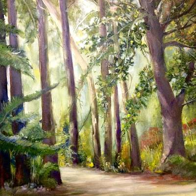 Painting - Spirt Of The Green Trees by Janet Visser