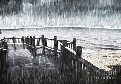 Spit In The Rain Art Print