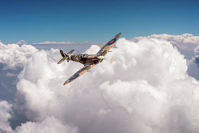 Photograph - Spitfire Above Clouds by Gary Eason