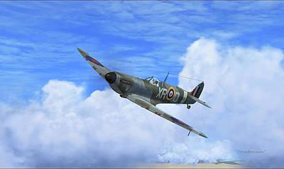 Spitfire Airborne Art Print