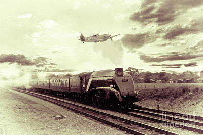 Spitfire And Mallard Art Print by J Biggadike
